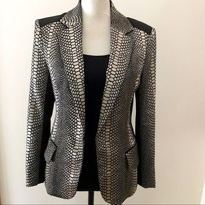 Ark & Co metallic patterned blazer Sz M NWOT